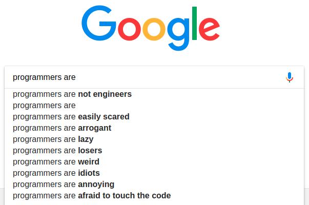 Google hates us. | programmer-memes, code-memes, programmers-memes, engineer-memes, program-memes, google-memes | ProgrammerHumor.io
