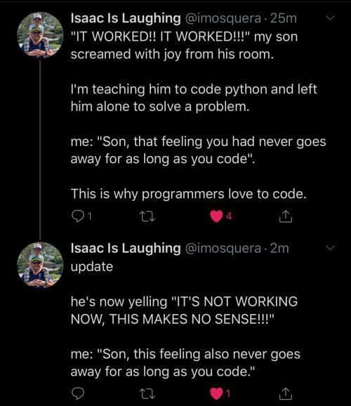As long as you code, you'll have these feelings ! | programmer-memes, code-memes, python-memes, programmers-memes, program-memes, IT-memes | ProgrammerHumor.io