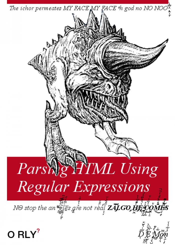 Parsing HTML Using Regular Expressions   html-memes, express-memes, parsing-memes, IT-memes, ML-memes   ProgrammerHumor.io