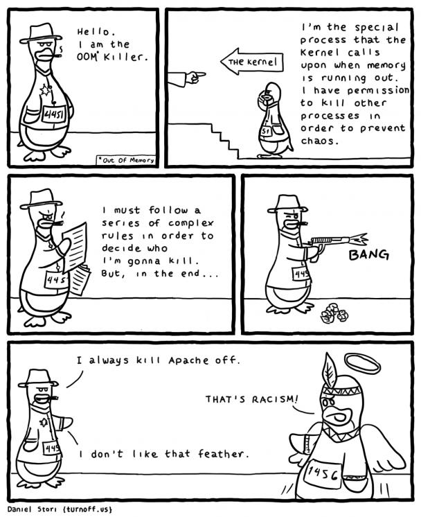 The OOM killer | apache-memes, ide-memes, kernel-memes | ProgrammerHumor.io