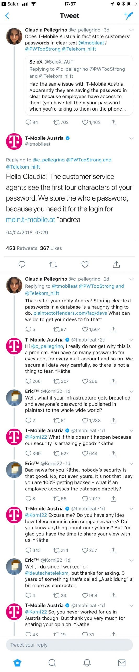 "Most of the thread of T Mobile Austria's ""super secure"" password storing techniques | tech-memes, art-memes, data-memes, password-memes, security-memes, devs-memes, database-memes, fix-memes, qa-memes, IT-memes, rds-memes, idea-memes, ide-memes, retweet-memes | ProgrammerHumor.io"