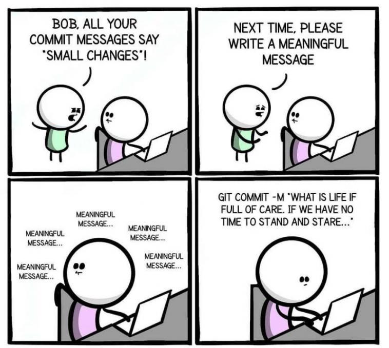 Meaningful Message   git-memes   ProgrammerHumor.io