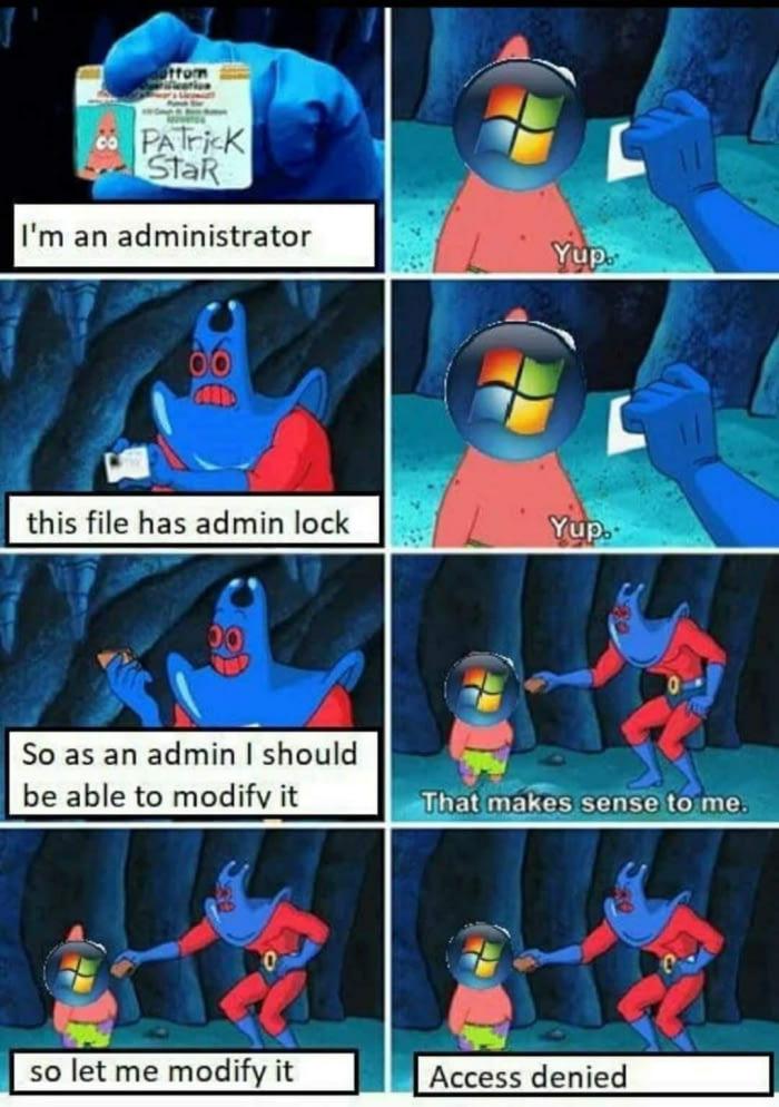 Gotta love Microsoft   loc-memes, lock-memes, microsoft-memes, IT-memes   ProgrammerHumor.io