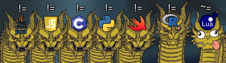 Not equal operators | ProgrammerHumor.io