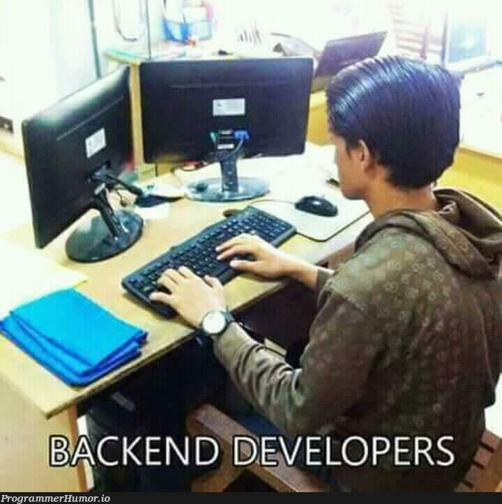Backend developer! | developer-memes, backend-memes | ProgrammerHumor.io