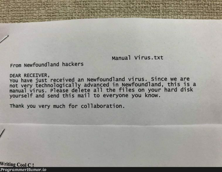 Found this in my schools cs lab | tech-memes, hacker-memes, virus-memes, c-memes, cs-memes | ProgrammerHumor.io