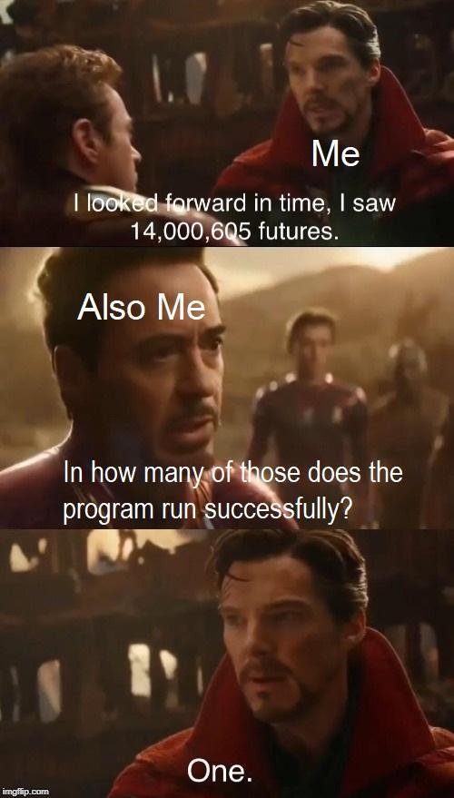 Alone Debugging your code at 3 AM | code-memes, debugging-memes, bug-memes, debug-memes | ProgrammerHumor.io