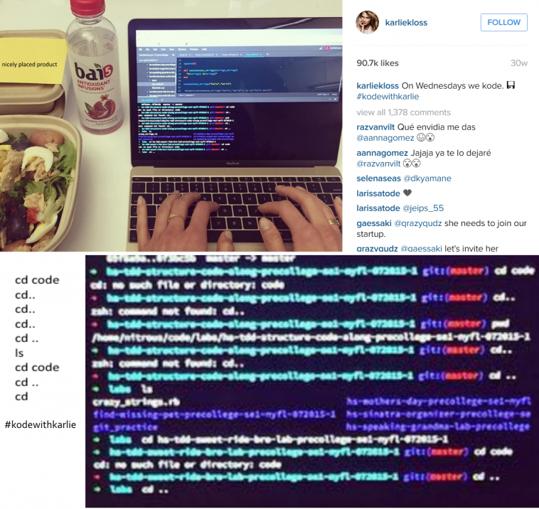 Model Karlie Kloss insane coding skills | coding-memes, startup-memes | ProgrammerHumor.io