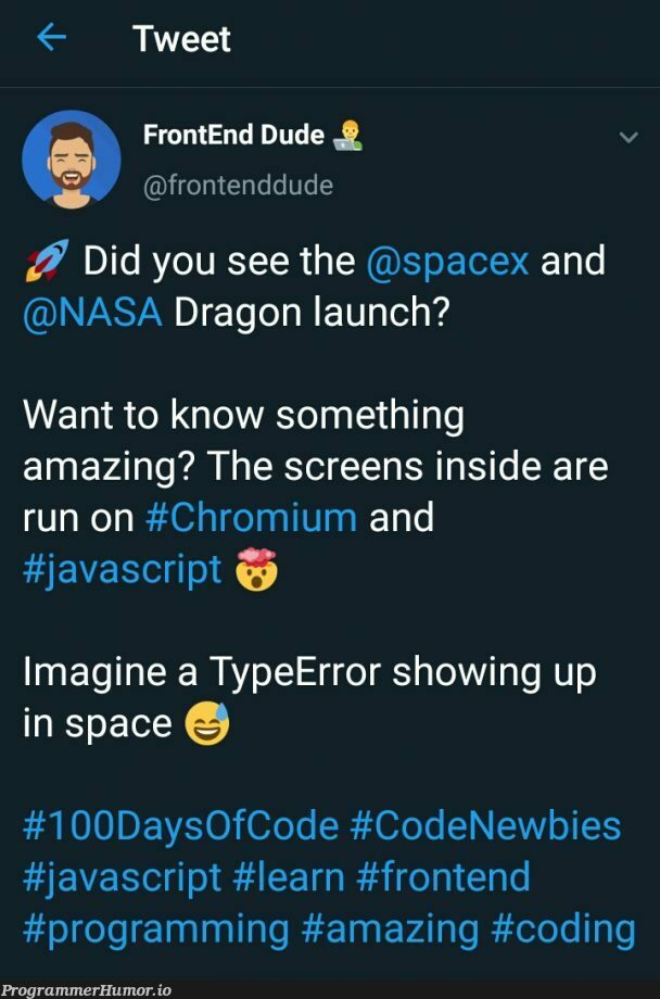 Makes you wonder, how much RAM was needed to run that thing ?   programming-memes, coding-memes, javascript-memes, code-memes, java-memes, program-memes, frontend-memes, url-memes, error-memes, ide-memes, space-memes   ProgrammerHumor.io