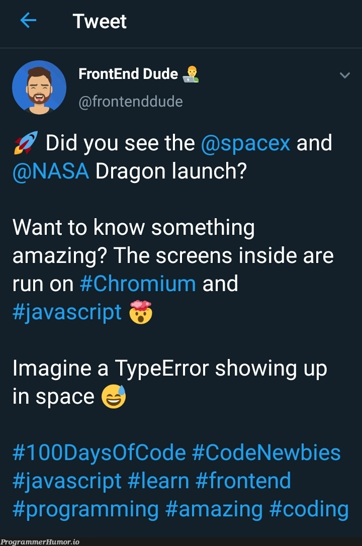 Makes you wonder, how much RAM was needed to run that thing ? | programming-memes, coding-memes, javascript-memes, code-memes, java-memes, program-memes, frontend-memes, url-memes, error-memes, ide-memes, space-memes | ProgrammerHumor.io