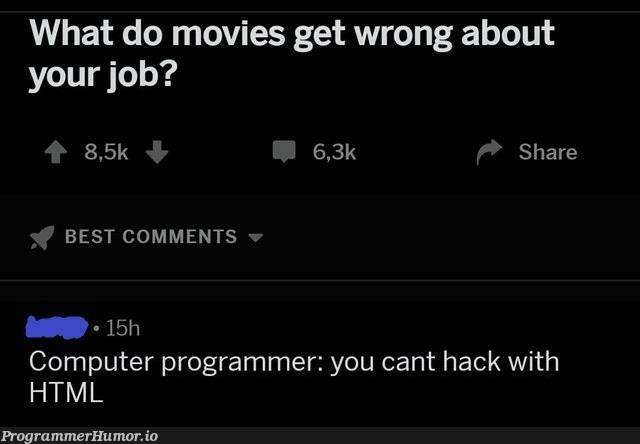 This guy gets it. | programmer-memes, html-memes, computer-memes, program-memes, ML-memes, comment-memes | ProgrammerHumor.io