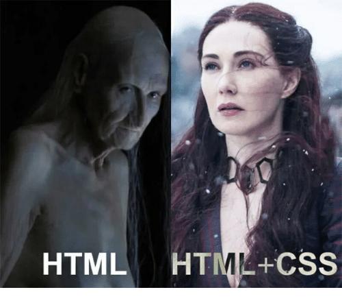 Only HTML and HTML + CSS effect.... | html-memes, css-memes, ML-memes, cs-memes | ProgrammerHumor.io