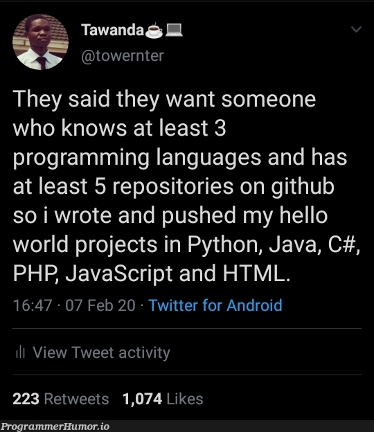 Programming life hack | programming-memes, html-memes, javascript-memes, php-memes, java-memes, python-memes, android-memes, program-memes, git-memes, github-memes, c#-memes, ML-memes, twitter-memes, retweet-memes, language-memes, programming language-memes | ProgrammerHumor.io