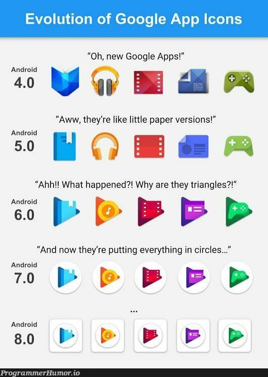 The UI upgrade we all deserve | android-memes, google-memes, version-memes | ProgrammerHumor.io
