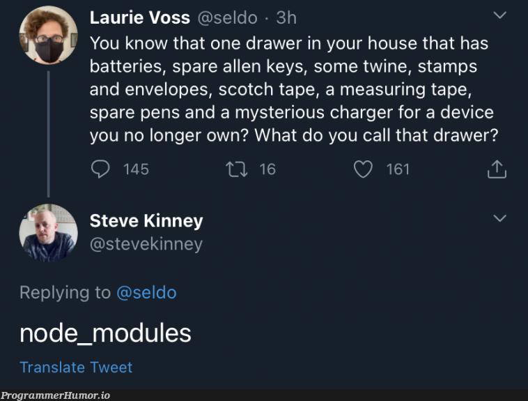 Naming things is hard, but this guy got it right   node-memes, IT-memes, node_modules-memes   ProgrammerHumor.io