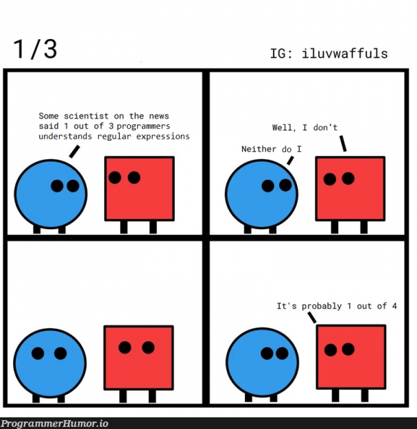 One in three programmers | programmer-memes, programmers-memes, program-memes, express-memes | ProgrammerHumor.io