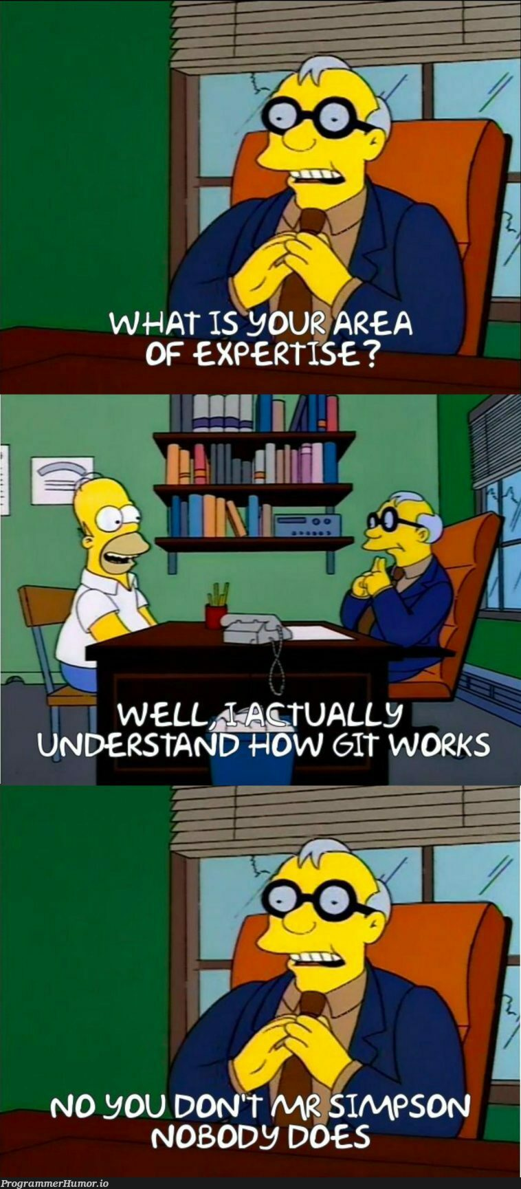I know add, commit, push, and that's it.   vim-memes, vm-memes   ProgrammerHumor.io