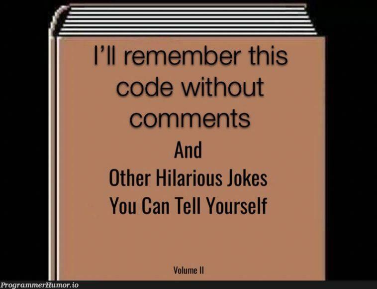 #What's a comment?   code-memes, comment-memes   ProgrammerHumor.io