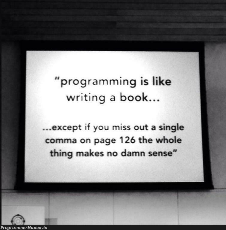 Book Bk = new Book(); | programming-memes, program-memes | ProgrammerHumor.io