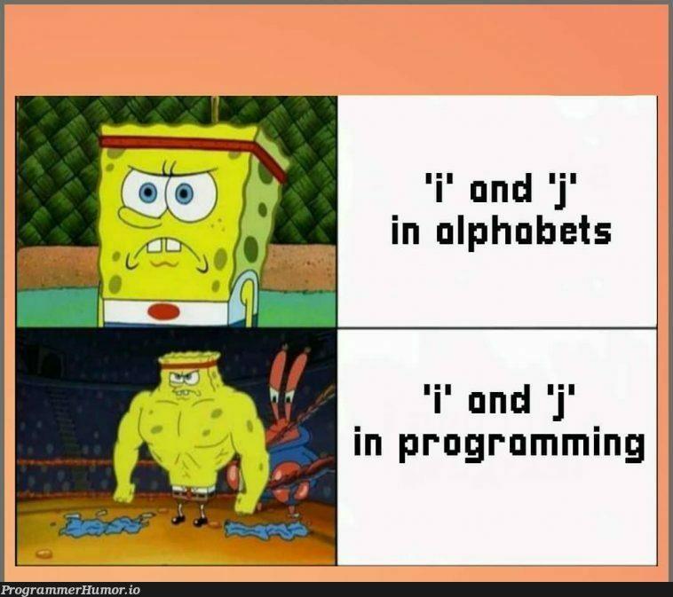 The i, j   programming-memes, program-memes   ProgrammerHumor.io