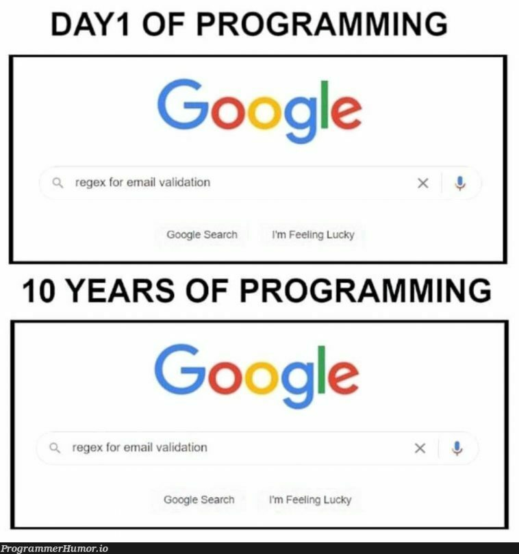Why is regex so annoying and hard everytime 🤯 | programming-memes, program-memes, regex-memes, validation-memes, email-memes | ProgrammerHumor.io