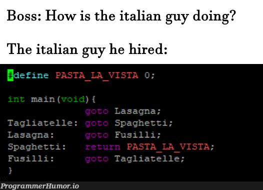 Spaghetti Code   code-memes   ProgrammerHumor.io