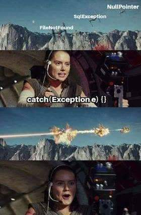 Kill two exceptions with one catch   catch-memes, exception-memes   ProgrammerHumor.io