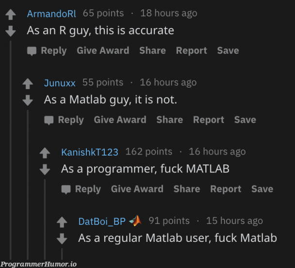At least here we agreed with each other | programmer-memes, ux-memes, program-memes, matlab-memes | ProgrammerHumor.io