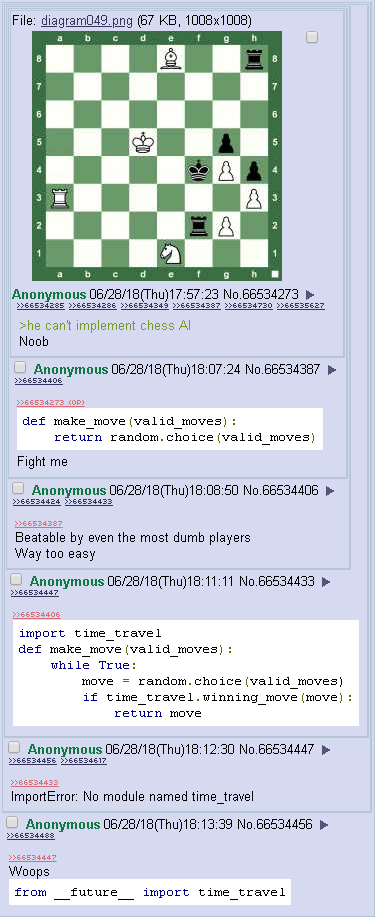 A simple chess AI   random-memes, oop-memes   ProgrammerHumor.io