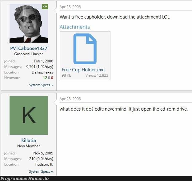 Cupholder.js   hacker-memes, loc-memes, IT-memes, cs-memes, graph-memes   ProgrammerHumor.io