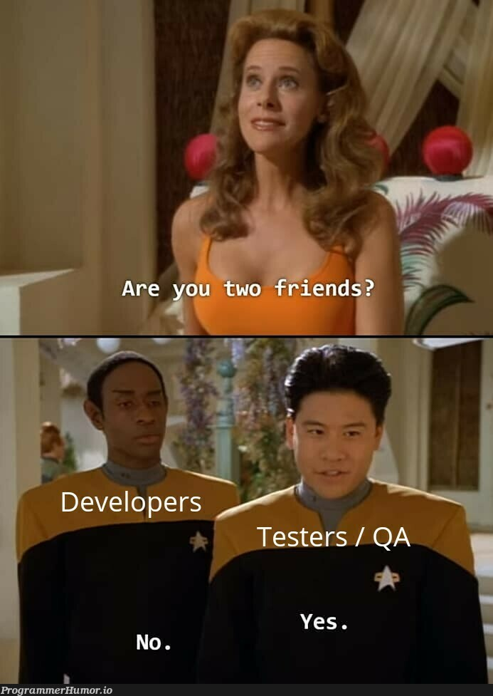Frenemies?   ProgrammerHumor.io