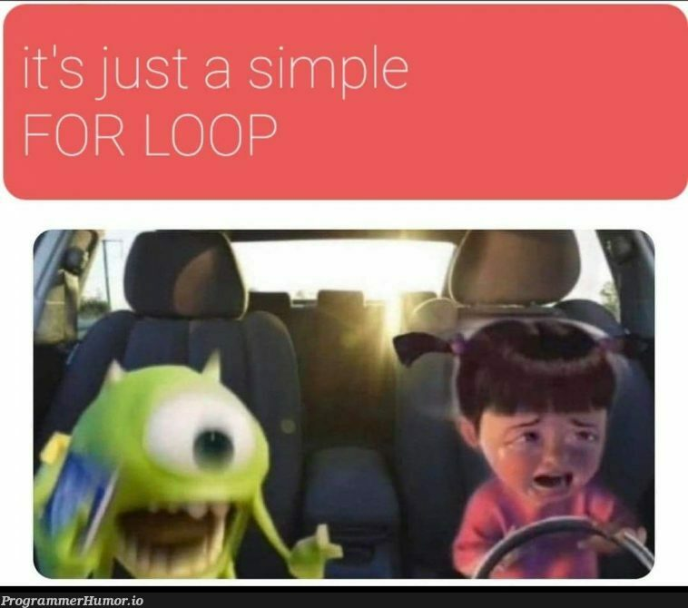 Because of Covid I started teaching my gf how to code and this is the meme she made for me. I think she's trying to tell me something. | code-memes, try-memes, for loop-memes, oop-memes | ProgrammerHumor.io