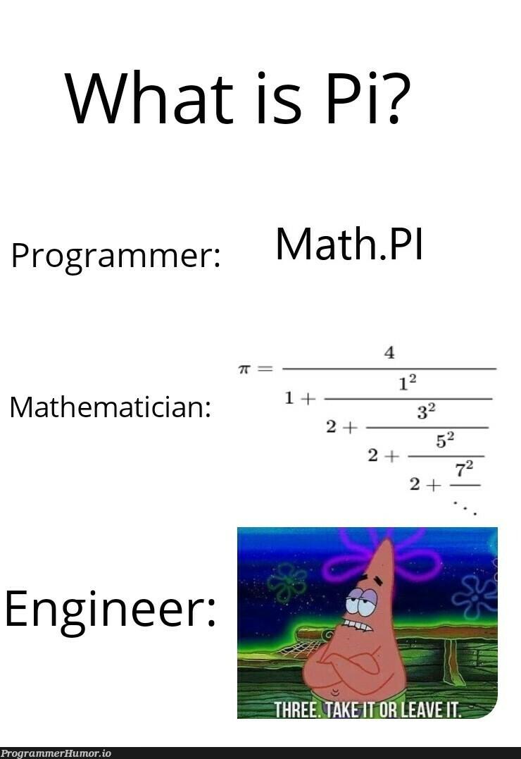 happy Pi day | programmer-memes, engineer-memes, program-memes | ProgrammerHumor.io