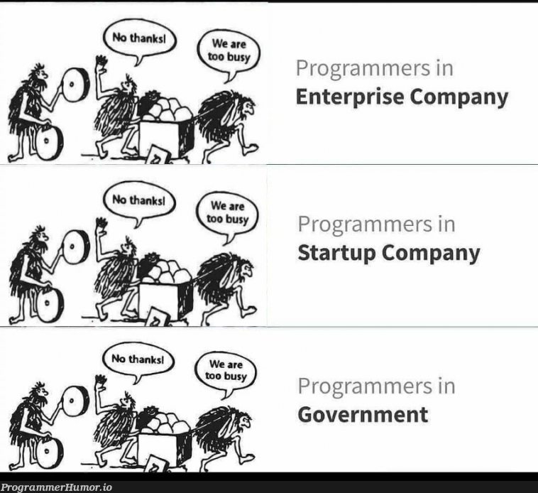 more accurate representation of this classic post | programmer-memes, program-memes, class-memes, startup-memes | ProgrammerHumor.io