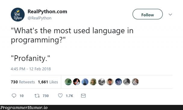 !false | programming-memes, python-memes, program-memes, retweet-memes, language-memes | ProgrammerHumor.io