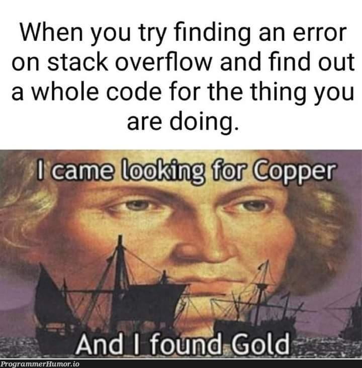 Thanks stackoverflow. | code-memes, stackoverflow-memes, stack-memes, stack overflow-memes, try-memes, error-memes, overflow-memes | ProgrammerHumor.io