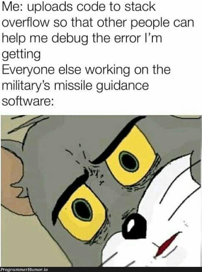 Help me... | software-memes, code-memes, stack-memes, stack overflow-memes, bug-memes, error-memes, debug-memes, overflow-memes | ProgrammerHumor.io