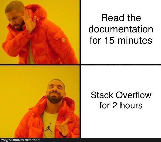 Docs? | stack-memes, stack overflow-memes, overflow-memes, documentation-memes, cs-memes | ProgrammerHumor.io