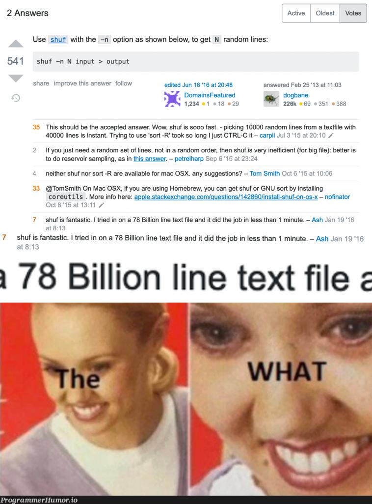 The joys of StackOverflow | stackoverflow-memes, stack-memes, try-memes, random-memes, apple-memes, overflow-memes, IT-memes, mac-memes, feature-memes | ProgrammerHumor.io