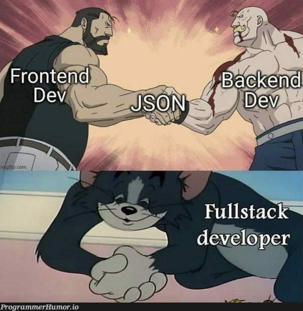 Fullstack Devs be like | stack-memes, devs-memes, fullstack-memes | ProgrammerHumor.io
