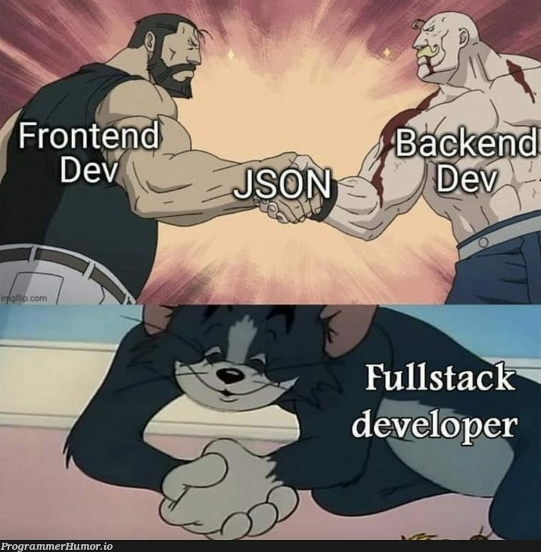 Fullstack Devs be like   stack-memes, devs-memes, fullstack-memes   ProgrammerHumor.io