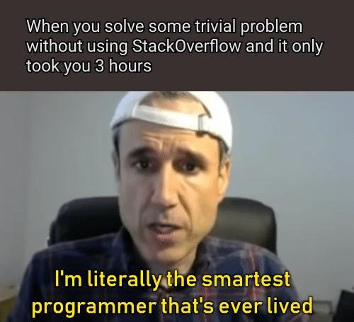 Feels good   stackoverflow-memes, stack-memes, overflow-memes, IT-memes   ProgrammerHumor.io
