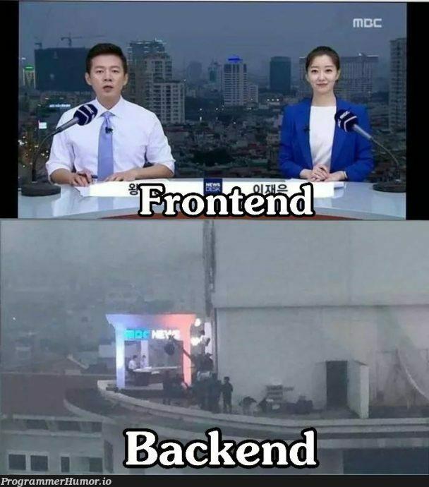 Frontend vs Backend | backend-memes, frontend-memes | ProgrammerHumor.io