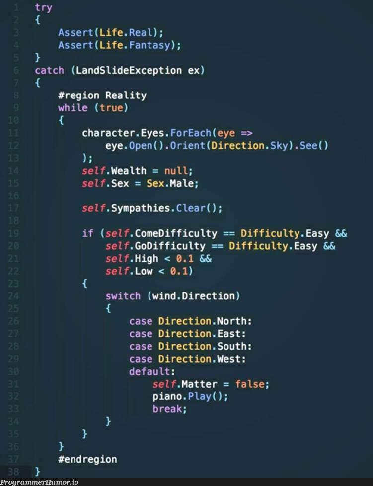 Bohemian Rhapsody in C#   try-memes, catch-memes, c#-memes, ide-memes, exception-memes   ProgrammerHumor.io
