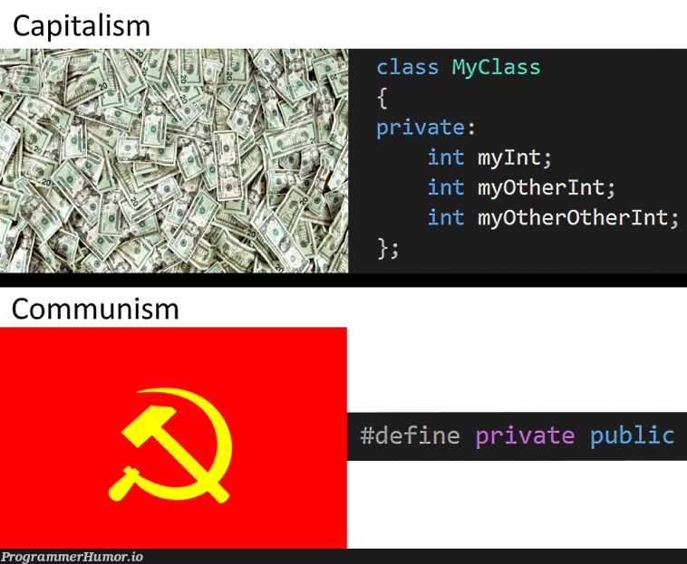 Know the difference!   api-memes, private-memes   ProgrammerHumor.io