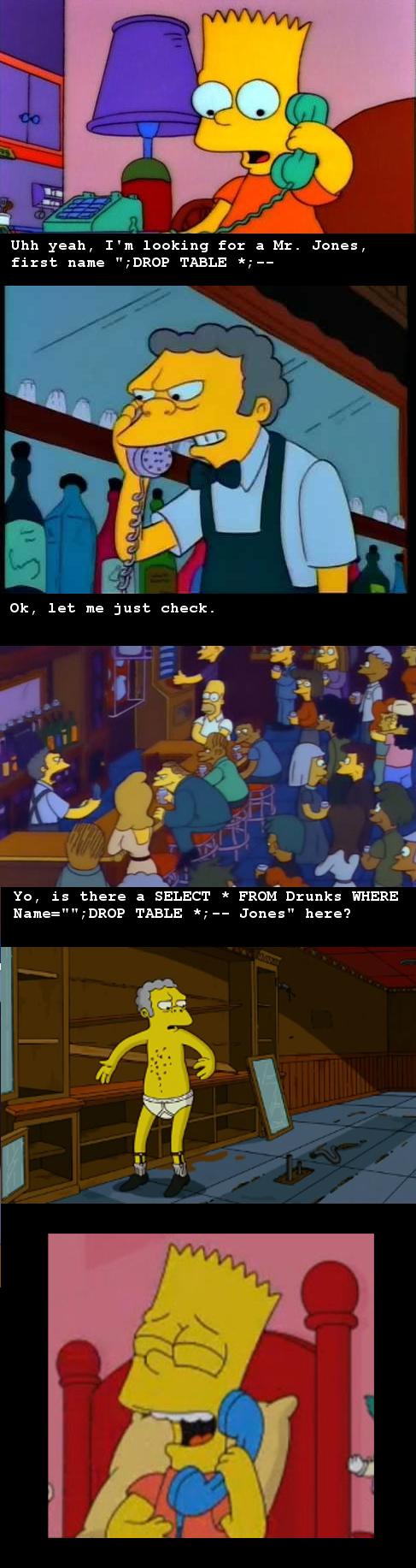 Sql injection in a nutshell | sql-memes, shell-memes | ProgrammerHumor.io