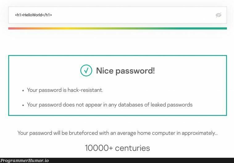 secure & easy to remember password | computer-memes, data-memes, password-memes, database-memes, rds-memes | ProgrammerHumor.io