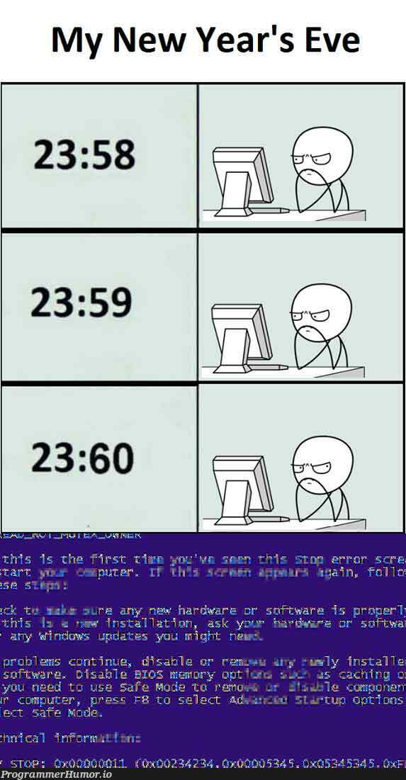 Programmer's New Year's Eve [FIXED] | programmer-memes, program-memes, fix-memes | ProgrammerHumor.io