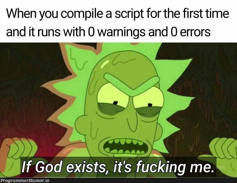 Fear me mortals   errors-memes, warning-memes, error-memes, IT-memes   ProgrammerHumor.io