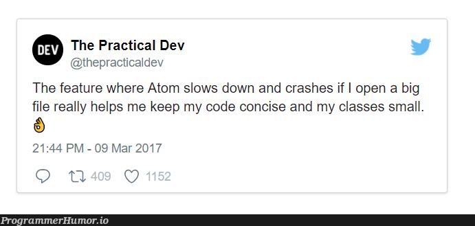 Encouraging good coding practices | coding-memes, code-memes, class-memes, atom-memes, crash-memes, feature-memes | ProgrammerHumor.io
